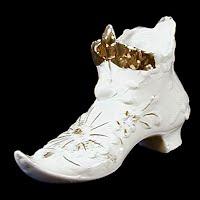 Antique Porcelain Shoe, before 1900's