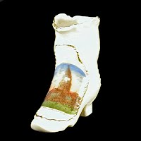 Antique Porcelain Boot, before 1915 made in Germany