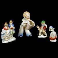 4 Occupied Japan Figurines, 1945-1952