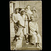 Real Photo Antique Postcard, Mexican Revolution,The Garrotte Mexican Method of Executing Criminals