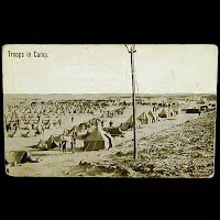 Real Photo Antique Postcard, World War I Troops in Camp Postcard