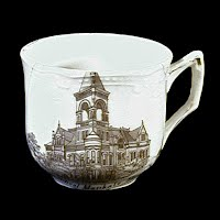 Small Antique Porcelain Cup, 1900 made in Germany, Souvenir of Mankato High School