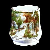 Antique Porcelain Toothpick Holder, souvenir of Ridgewood Ave Dayton Fla, 1900