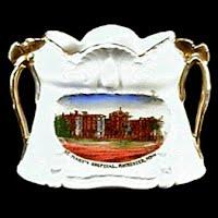 Antique Porcelain Vase, Souvenir St. Mary's Hospital Rochester Minn, 1900's Germany