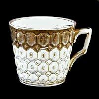 Antique Porcelain Mustache Cup, 1895 Germany