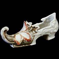 Antique Porcelain Shoe, 1890