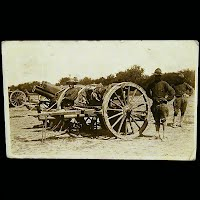 Antique Real Photo Postcard 1916, Mexican Revolution, Military Cannons