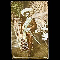 Antique 1913 Photochrom Postcard, Mexican Revolution, Zapata