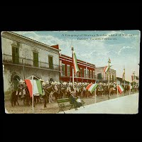 Antique Photochrom Postcard 1913, Mexican Revolution, Mexican Rurales