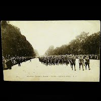 Antique Postcard 1918, Red Cross American Troops in Parade