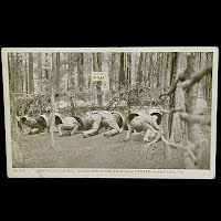Antique Real Photo Postcard, Obstacle Course, Camp Lee Petersburg VA