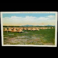 Antique Postcard, Fort Ethan Allen VT, Citizens Military Training Camp