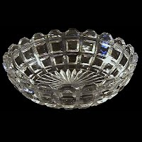 Antique EAPG clear Block Bowl