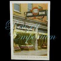 Vintage 1942 Lorna Doone Restaurant Postcard