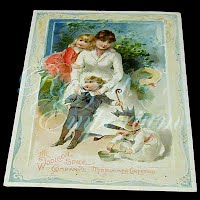 Antique Ephemera Woolson Spice Card, Midsummer Greeting