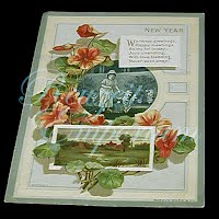 Antique Ephemera, New Year's Card, Warmest Greetings