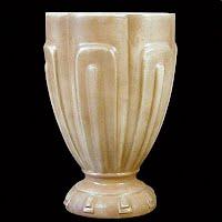 Vintage Large Tan Pottery Vase, 1940's