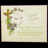 Antique Ephemera 1922 Happy Easter Card