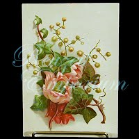 Antique Ephemera Roses Card