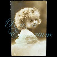 Antique 1914 Girl with Curls Postcard