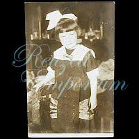 AntiqueGirl with BowPostcard