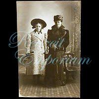 Antique 1908 Ladies wearing Coats Postcard
