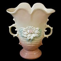 Antique Hull Pottery Water Lily Art Vase, 1930's