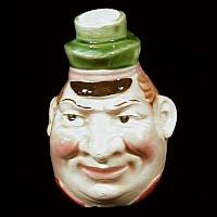 Vintage Pottery Face Jug, 1950's