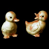 Vintage Lefton Yellow Ducks