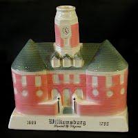 Vintage Pottery Boubon Decanter, Williamsburg, 1969
