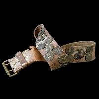 Vintage Antique Hate Belt, World War I Souvenir Belt