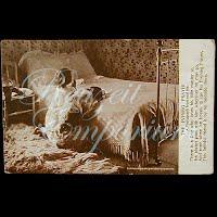 Antique 1909 Real Photo Evening Prayer Postcard