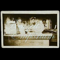 Antique Real Photo Meat Market Postcard