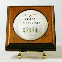 Vintage Handmade Embroidery, A Friend is Special