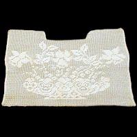 Antique Handmade 1890's Needlework Dress Insert