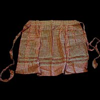 Vintage Handmade Gingham red and white apron