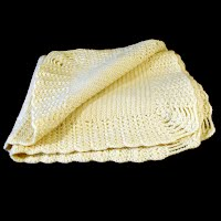 Antique Hand Knit Baby Blanket