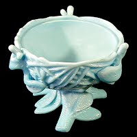 Antique Blue Milk Glass Nest
