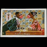 Antique Postcard, Black Cartoon, A Trick in Hearts, 1912
