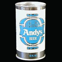 Vintage Beer Can, 1976 Blue Andy's Beer