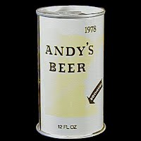 Vintage Beer Can, 1976 Yellow Andy's Beer