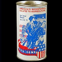 Vintage Beer Can, back Farmfest 1976