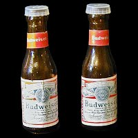 Vintage Budweiser Beer glass Salt and Pepper Shakers