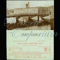 Postcard, Advertising, Auburn Postcard Manufacturing