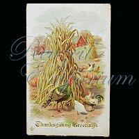 Antique 1913 Embossed Thanksgiving Post Card, Thanksgiving Greetings