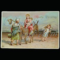 Antique 1911 Embossed Christmas Post Card, Merry Christmas