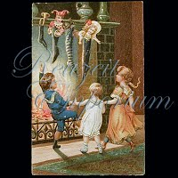 Antique 1907 Embossed Christmas Post Card, Merry Christmas