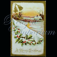 Antique 1911 Embossed Christmas Post Card, A Merry Christmas