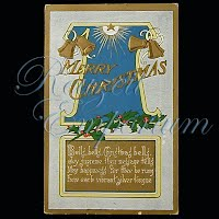 Antique Embossed Christmas Post Card, Merry Christmas