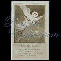 Antique 1914 Christmas Angel Post Card, Christmas Greeting